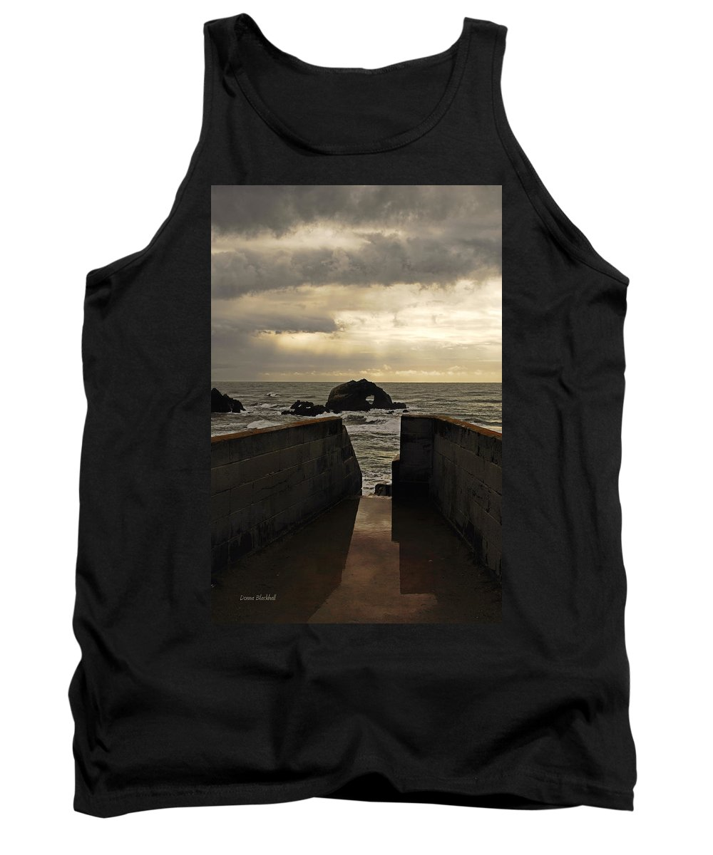 Clouds Tank Top featuring the photograph Eye Of The Storm by Donna Blackhall