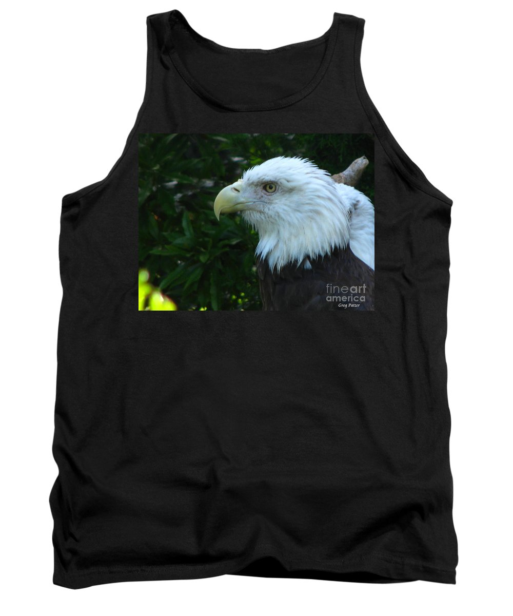 Eagle Tank Top featuring the photograph Eyecon by Greg Patzer