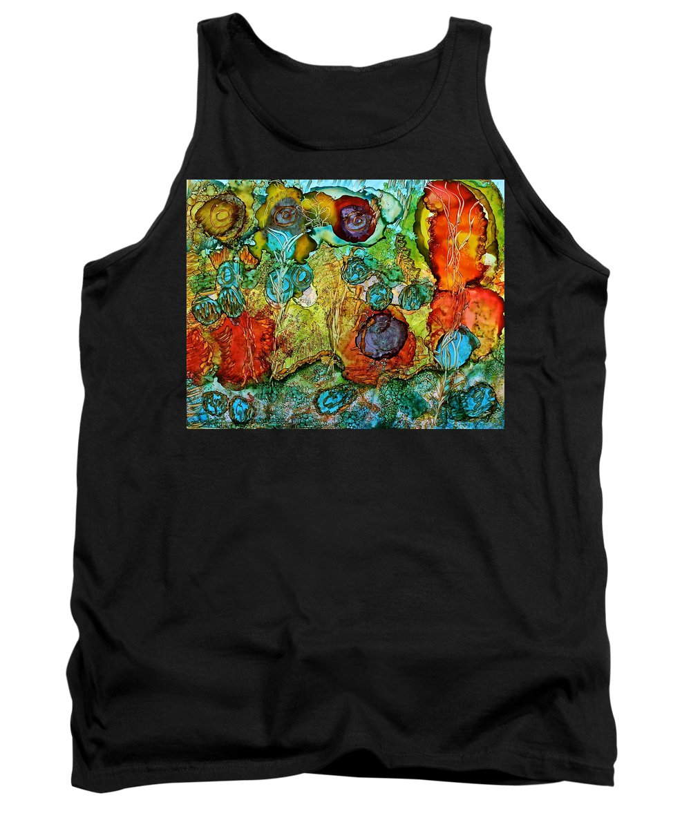 Fairies May Live Here Tank Top featuring the painting Fairies May Live Here by Bellesouth Studio