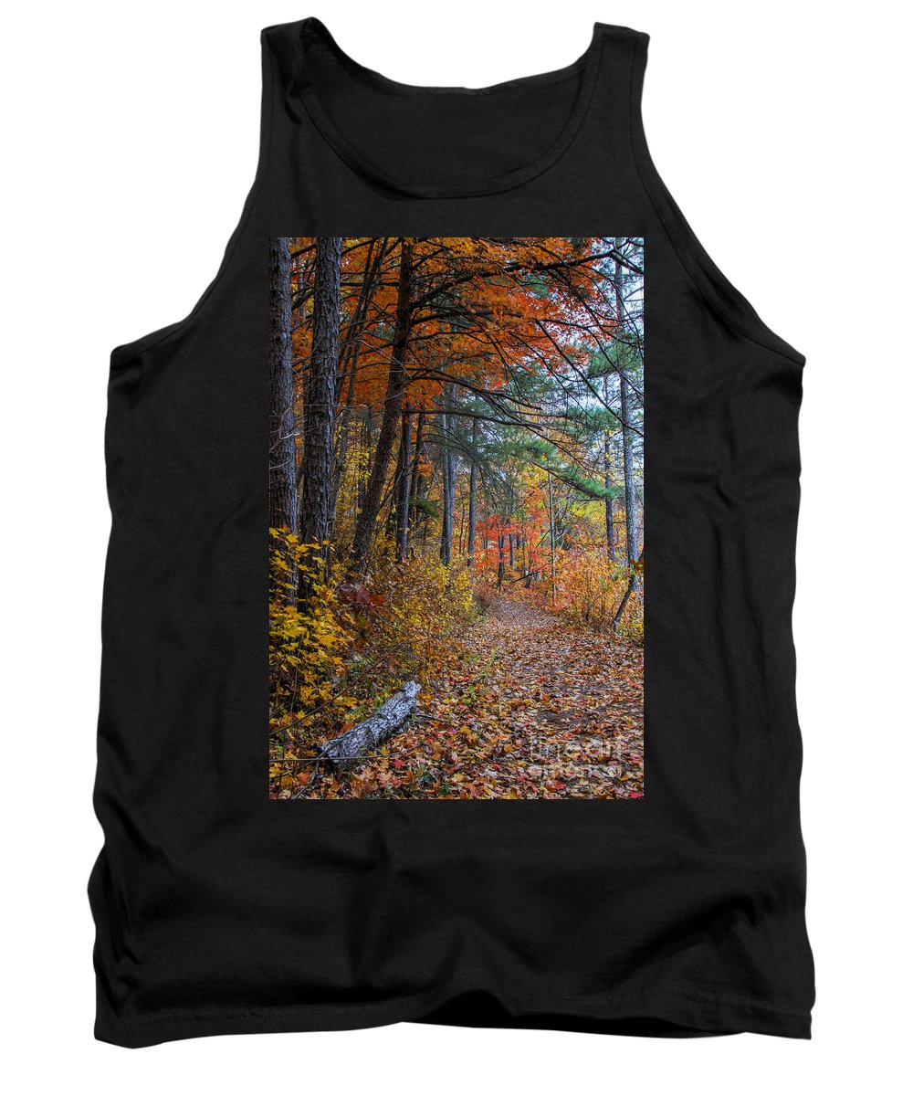 Fall Colors Tank Top featuring the photograph Fall Along The Upper Lake Trail by Barbara Bowen