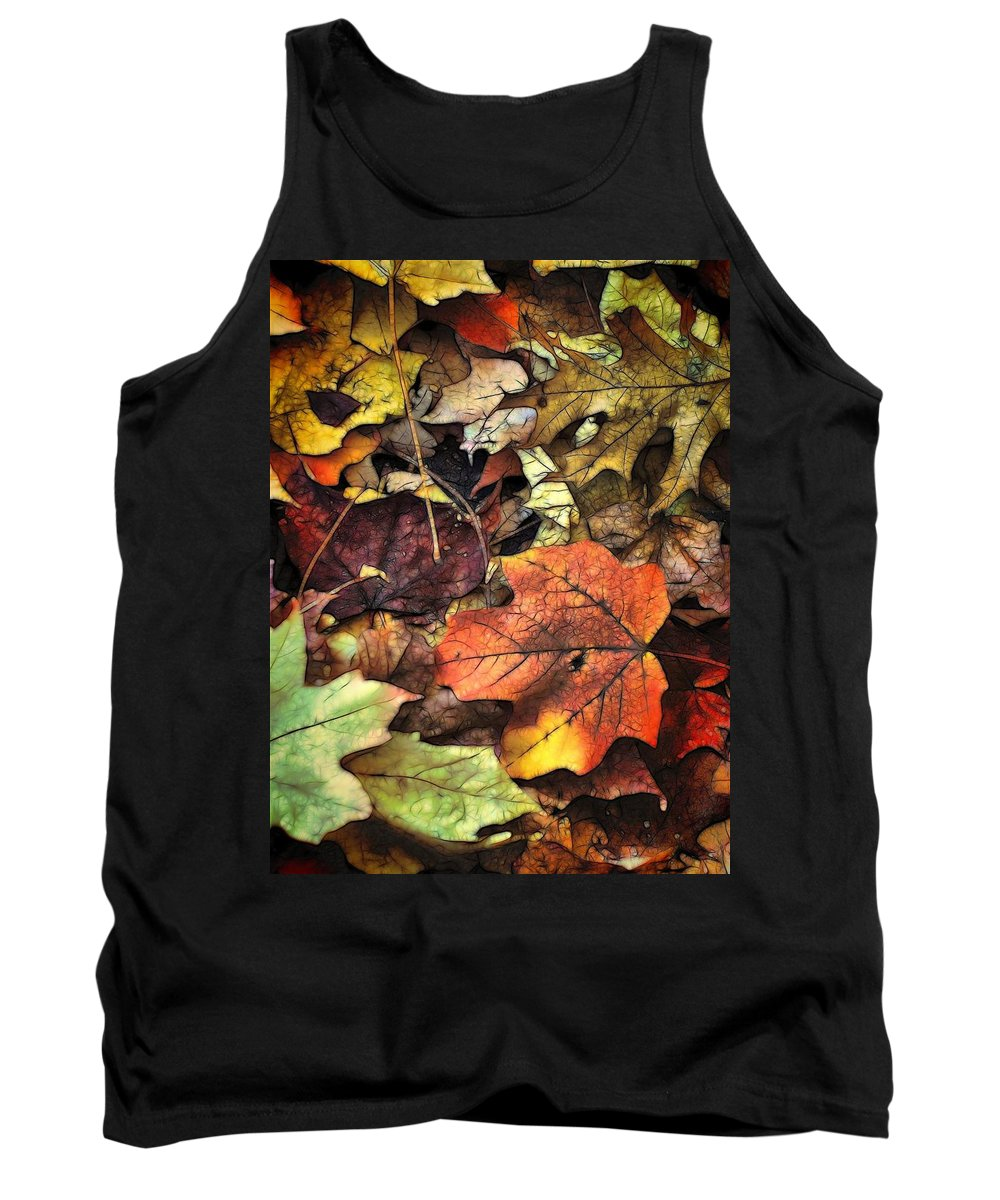 Leaf Tank Top featuring the photograph Fall Colors by Lyle Hatch