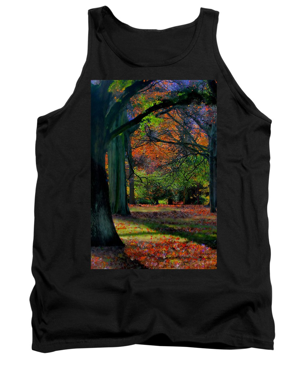 Autumn Tank Top featuring the painting Fall Is Coming by Bruce Nutting