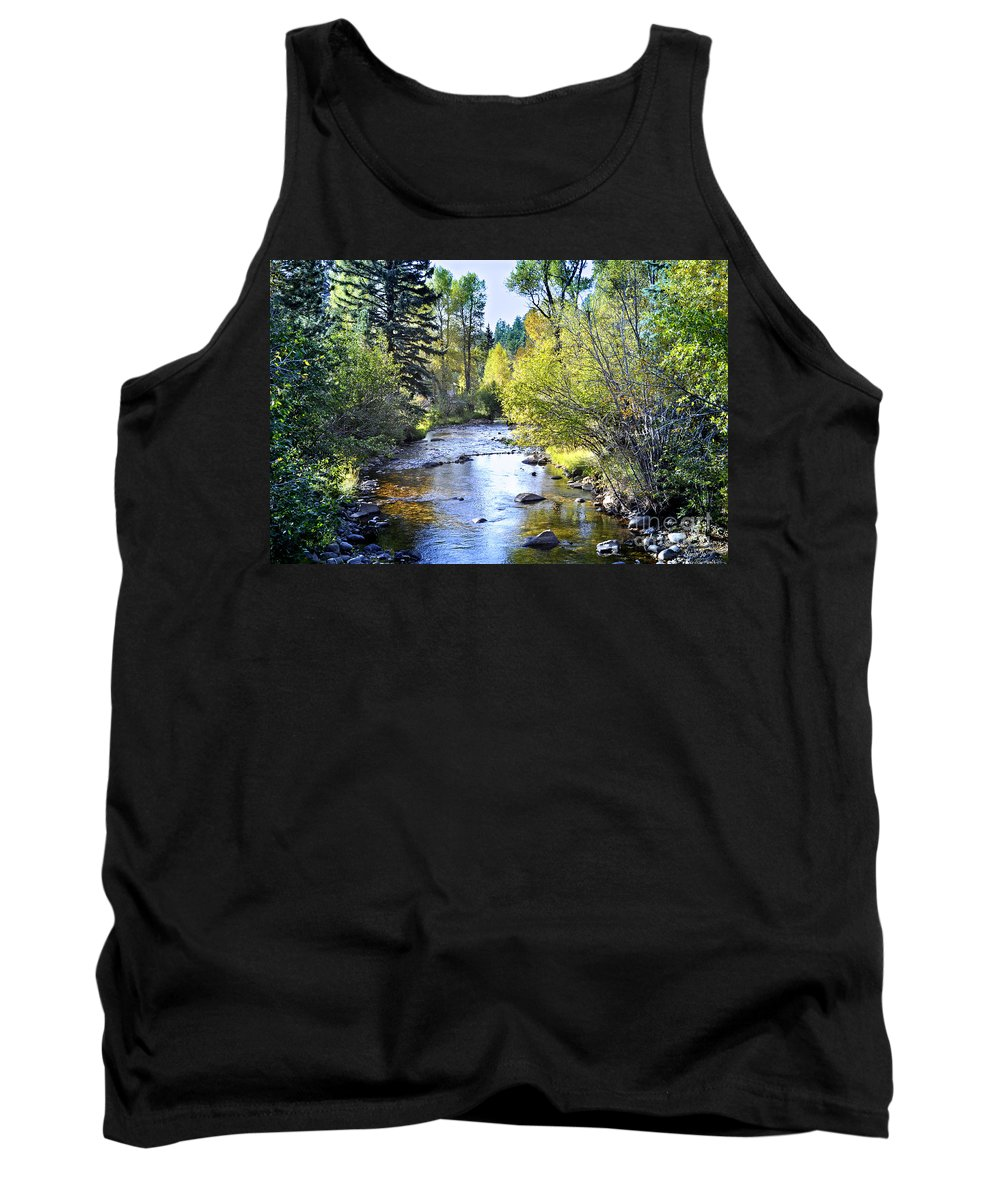 Nature Tank Top featuring the photograph Fall River Colorado 3 by Nava Thompson
