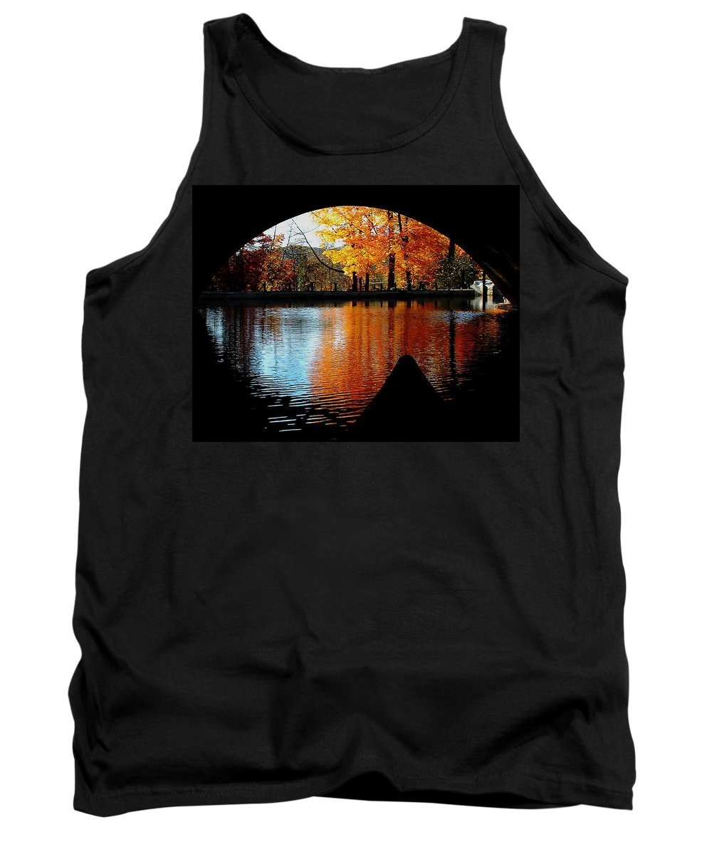 Fall Tank Top featuring the photograph Fall Under The Bridge by Tanya Hamell