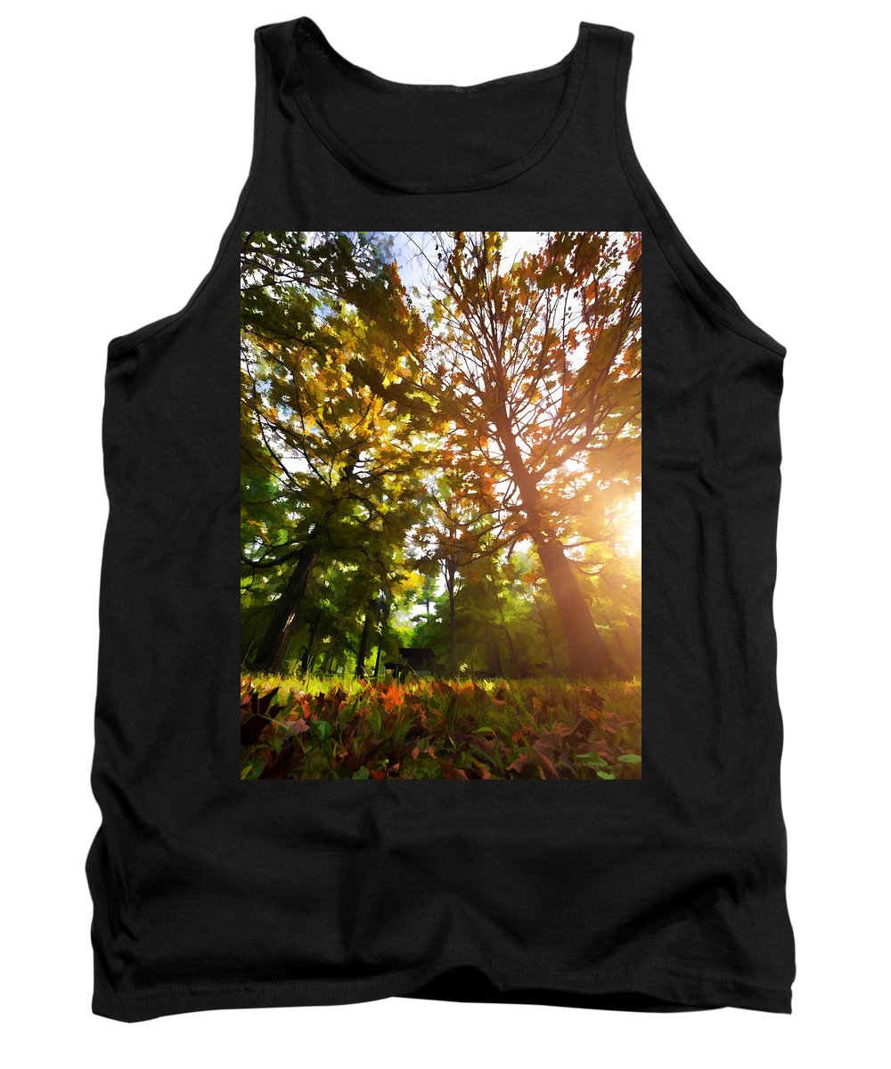 Fall Tank Top featuring the photograph Fall Vi by Tina Baxter
