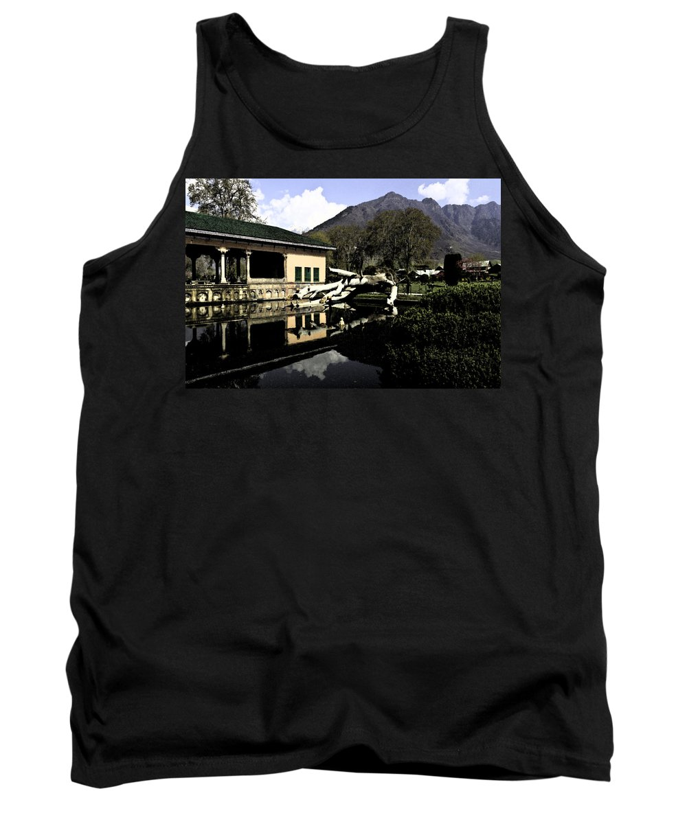 Action Tank Top featuring the digital art Fallen Tree In Water Pool by Ashish Agarwal