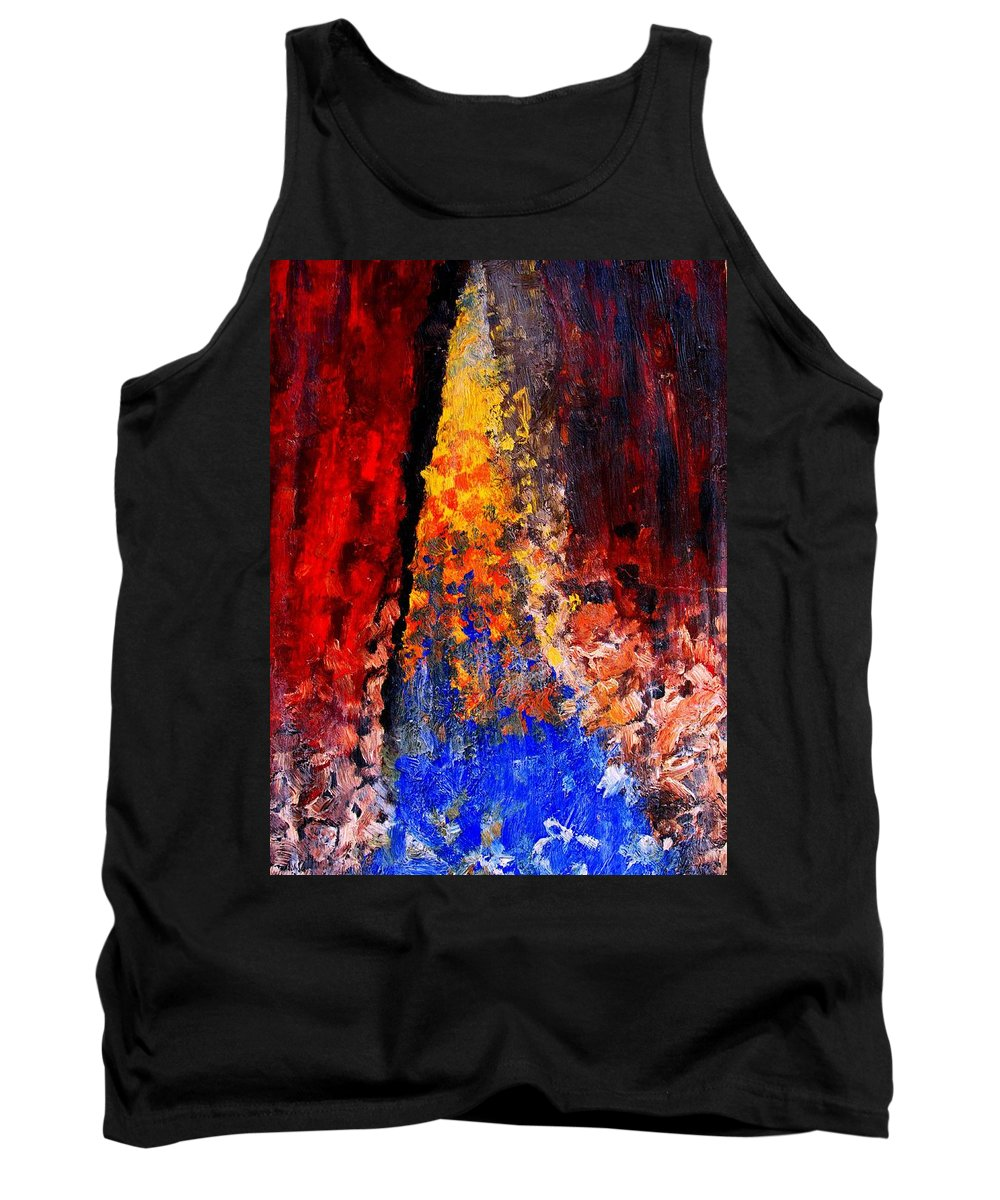 Abstract Tank Top featuring the painting Falling by Ian MacDonald
