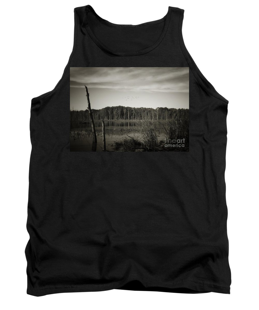 Tank Top featuring the photograph Fancher Davidge 3 by Chet B Simpson