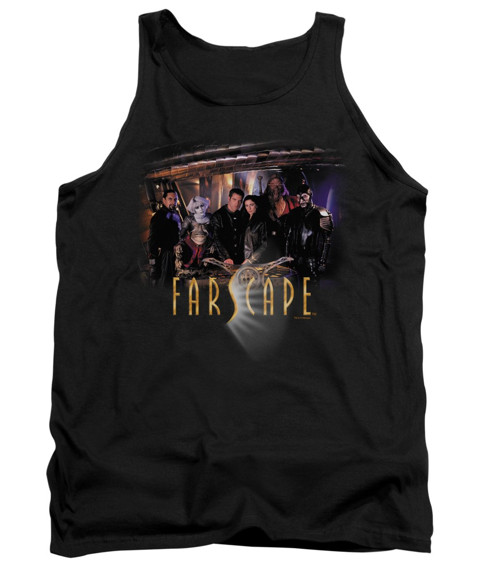 Farscape Tank Top featuring the digital art Farscape - Cast by Brand A