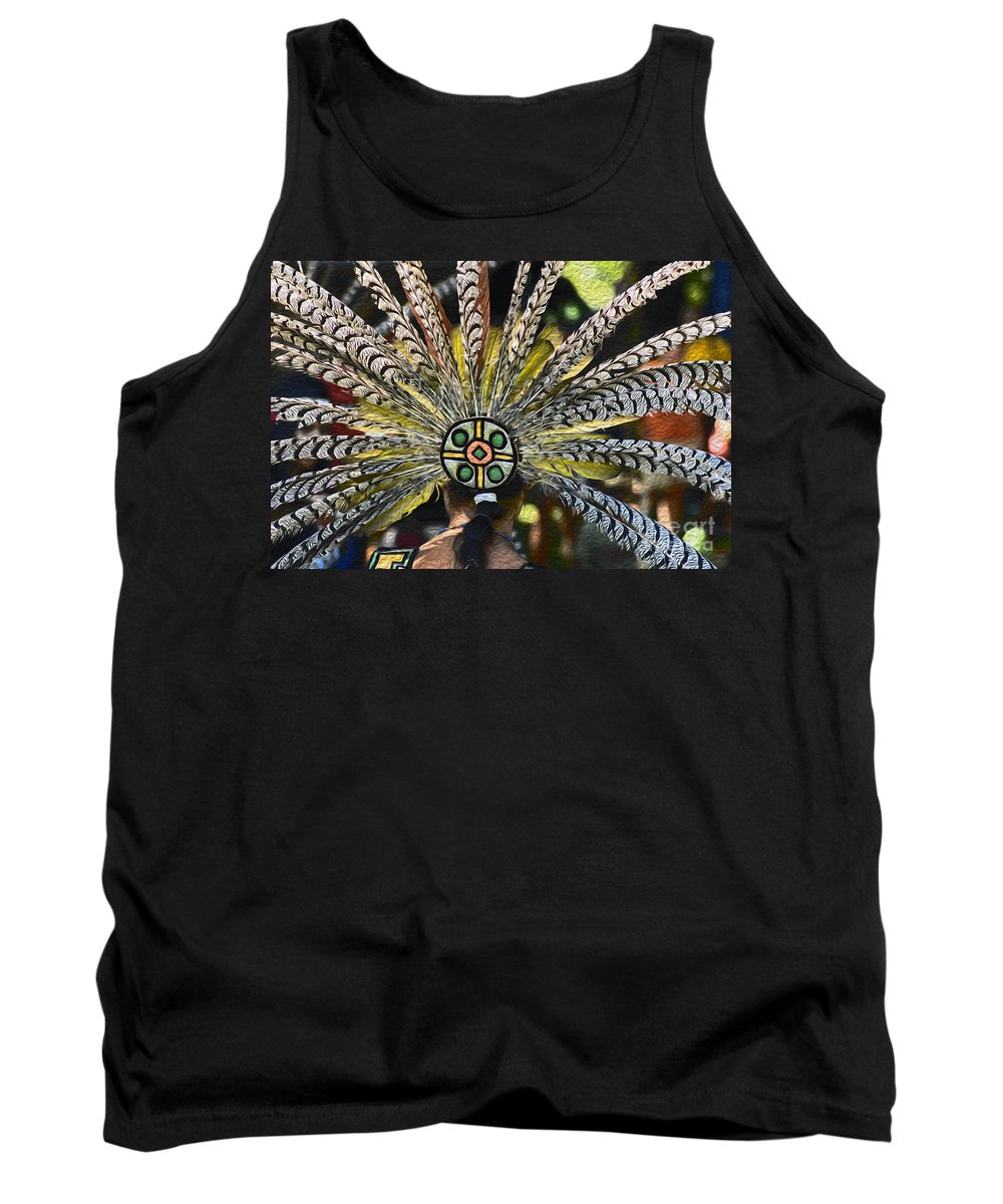 Aztec Tank Top featuring the photograph Feather Crown by Paul W Faust - Impressions of Light