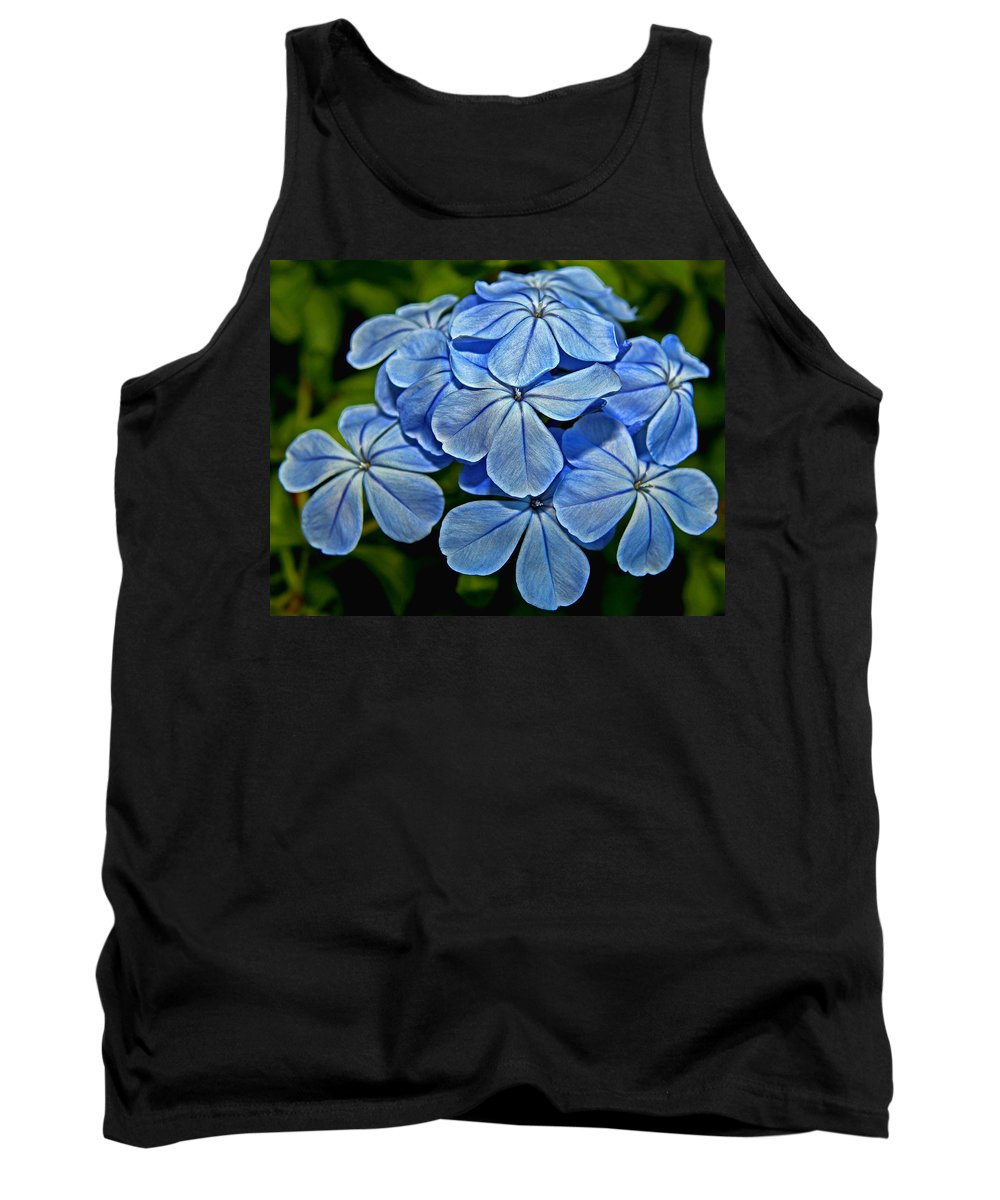 Plumbago Tank Top featuring the photograph Feeling Blue by Judy Vincent