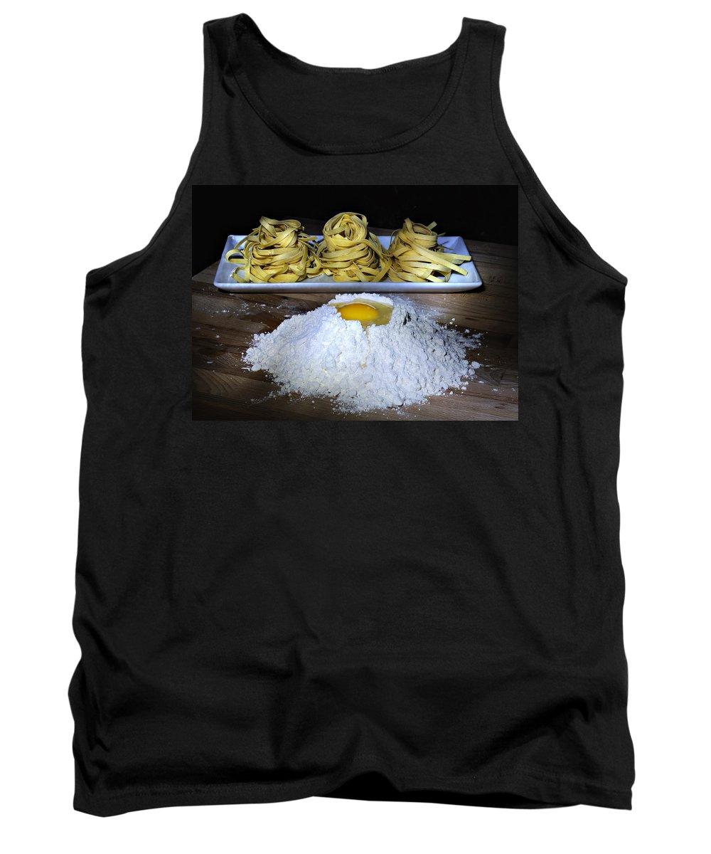 Pasta Tank Top featuring the photograph Fetuccine by Carol Eade