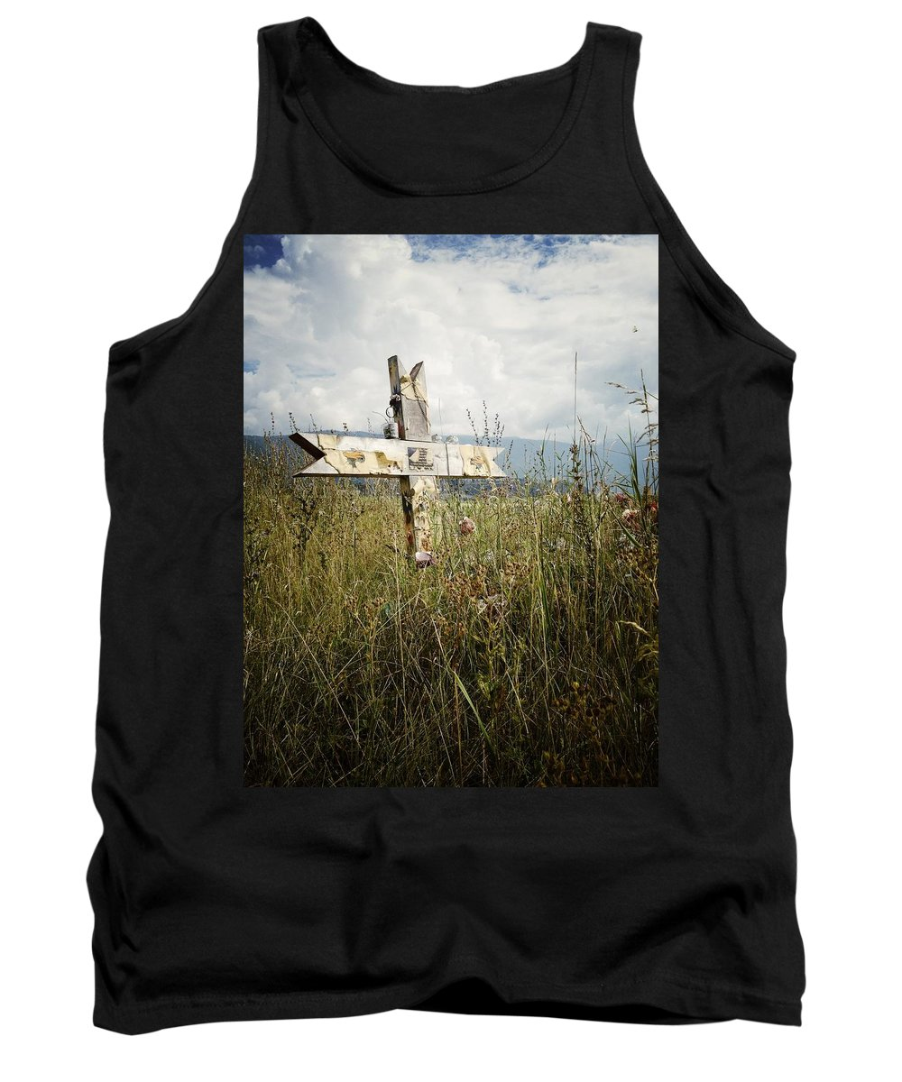 Graveyard Tank Top featuring the photograph Field Of Faith B by The Artist Project
