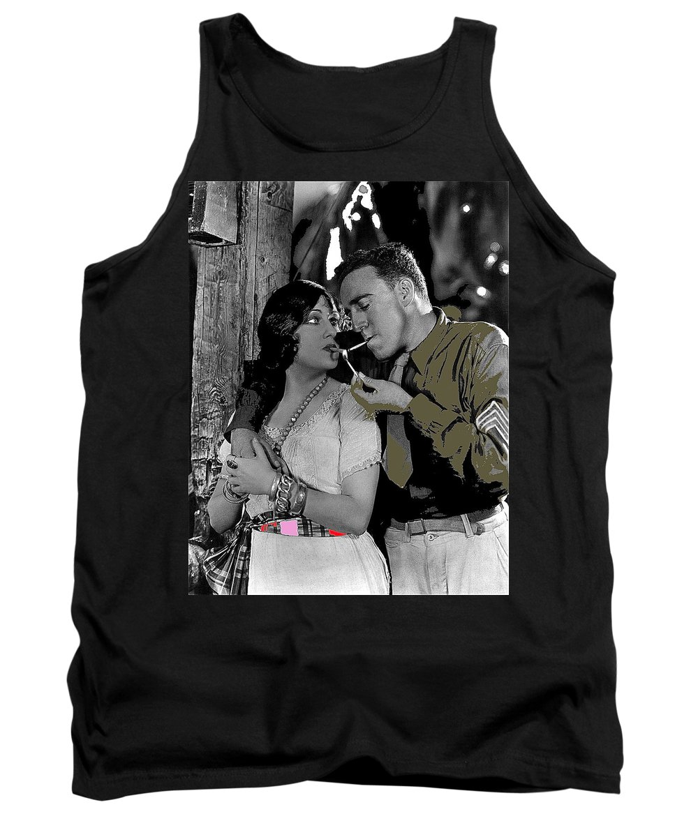 Film Homage Sadie Thompson 1 Gloria Swanson And Raoul Walsh 1927 Tank Top featuring the photograph Film Homage Sadie Thompson 1 Gloria Swanson And Raoul Walsh 1927-2014 by David Lee Guss