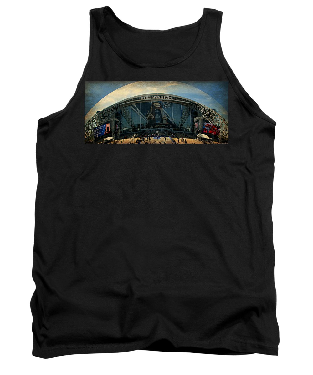 Final Four Tank Top featuring the photograph Finals Madness 2014 At Att Stadium by Stephen Stookey