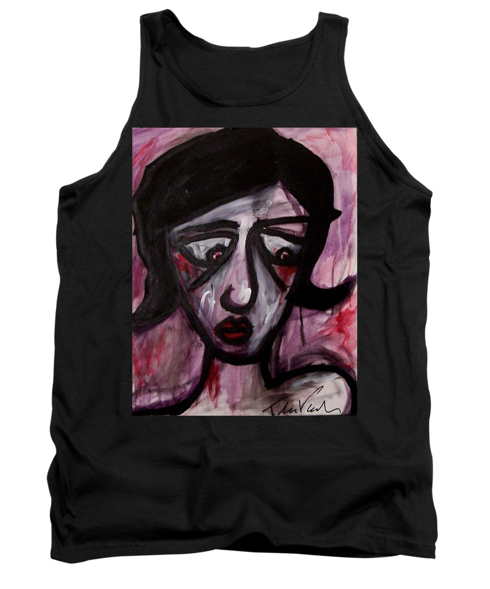 Portait Tank Top featuring the painting Finals by Thomas Valentine