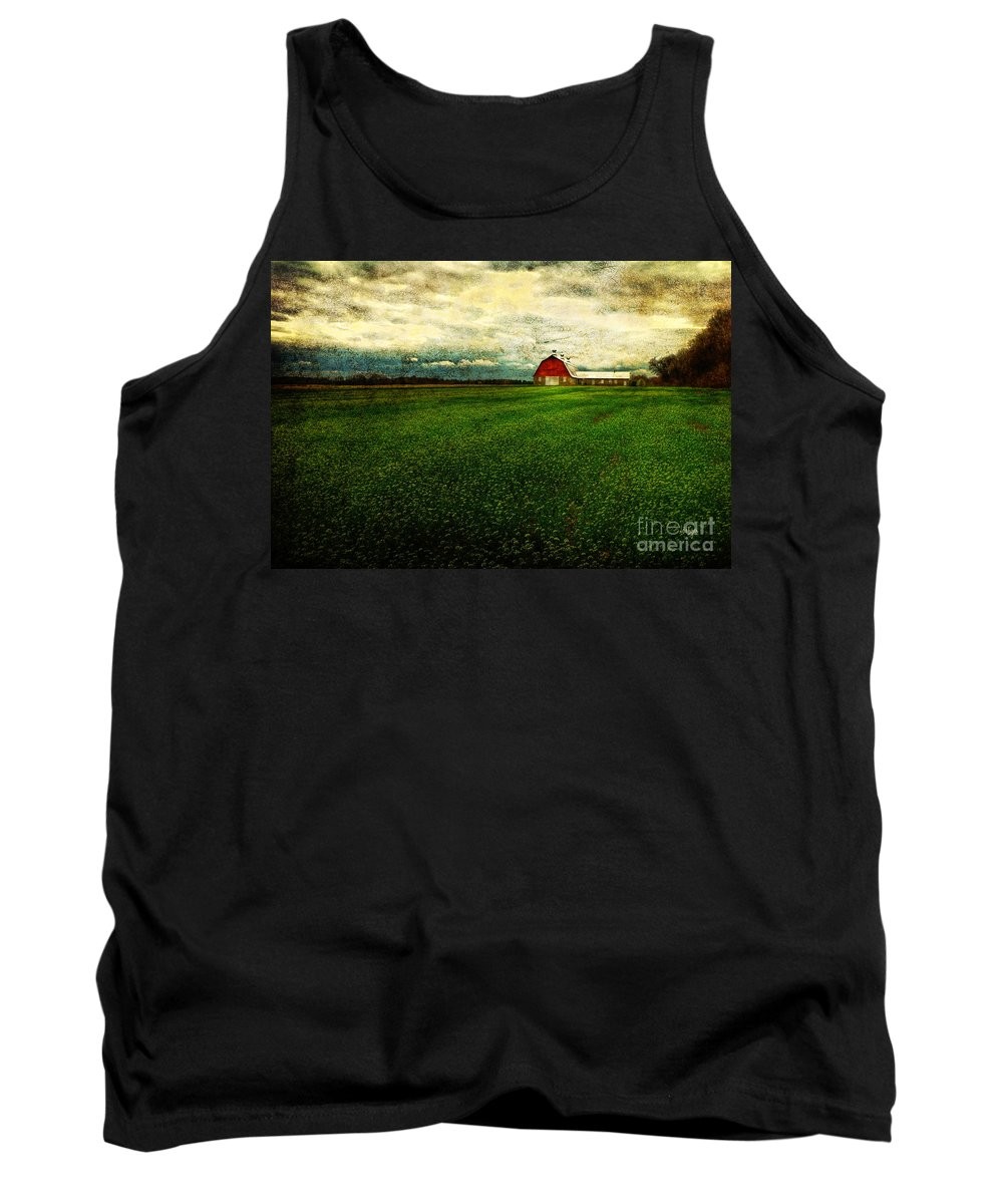 Barn Tank Top featuring the photograph Finished by Lois Bryan