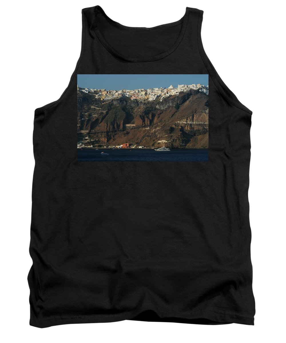 Caldera Tank Top featuring the photograph Fira by Joseph Yarbrough