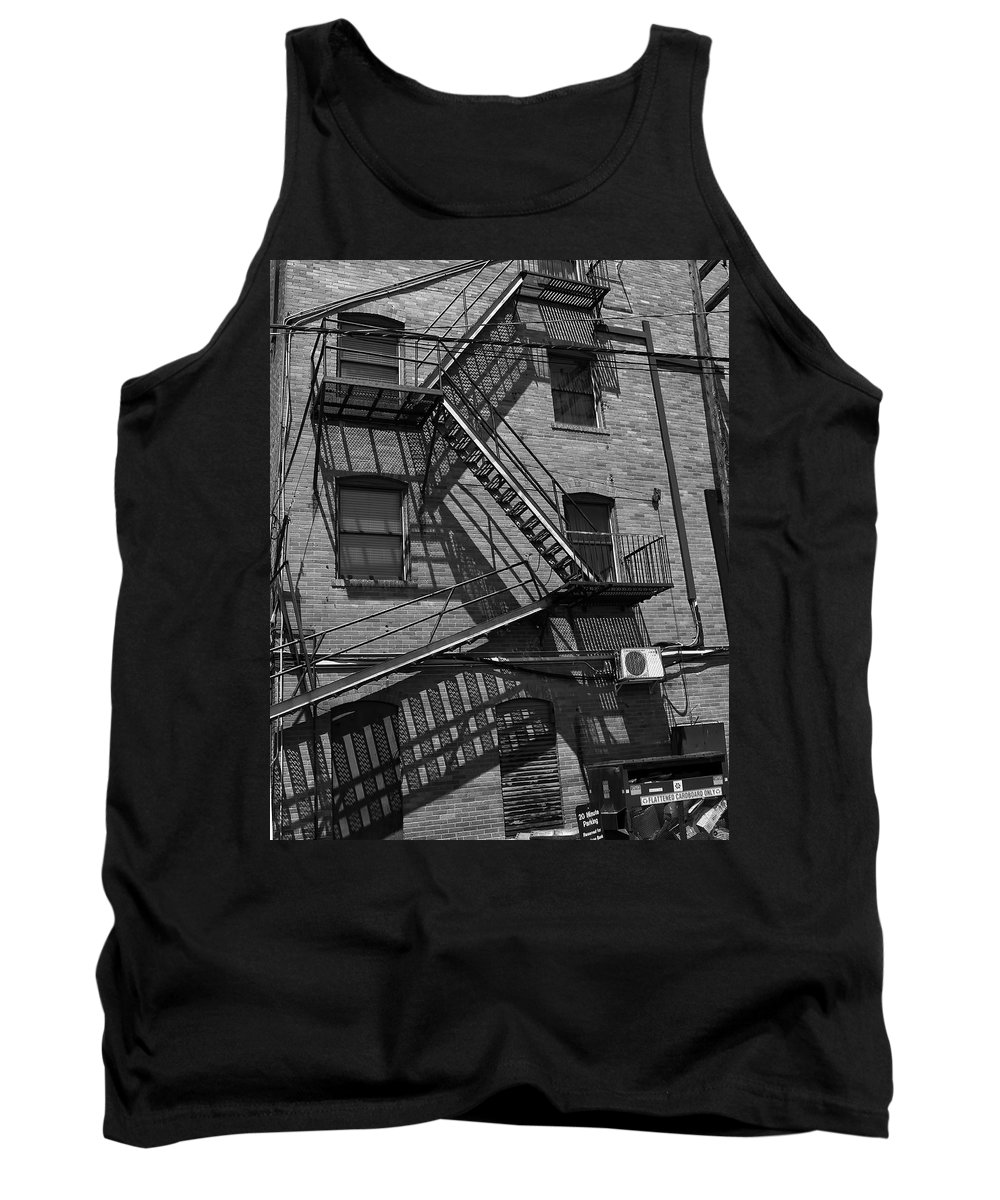 Tank Top featuring the photograph Fire Escape by Cathy Anderson