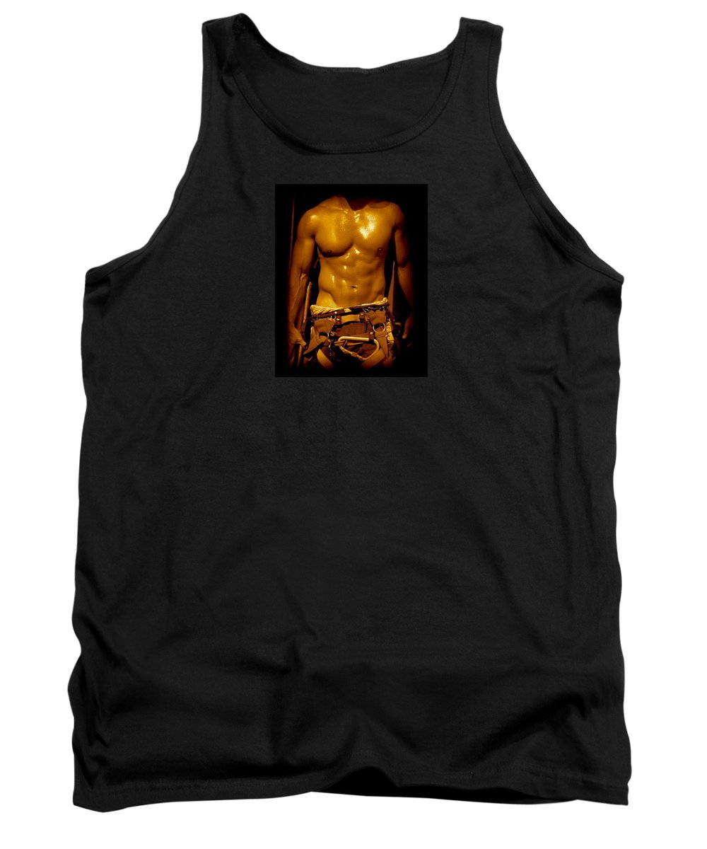 Iphone 5 Cover Cases Tank Top featuring the photograph Fire Fighter In New York by Monique's Fine Art