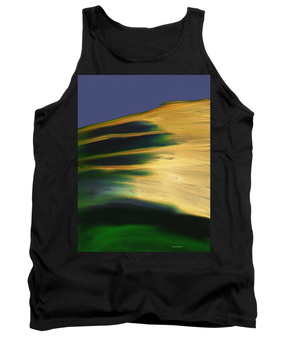 Minimal Tank Top featuring the painting Fire In The Sky by Lenore Senior