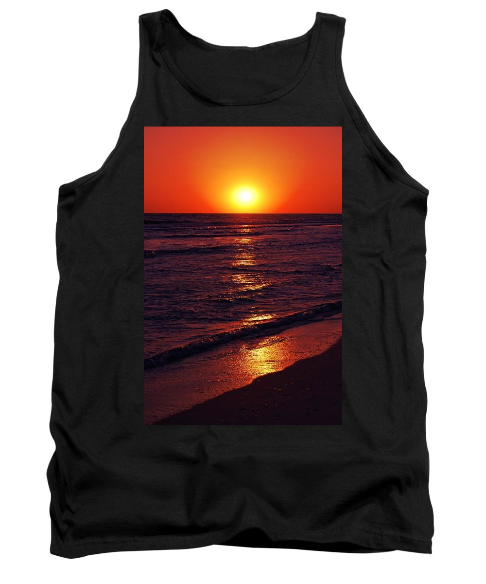 Water Tank Top featuring the photograph Fire Red Sunset by May Photography