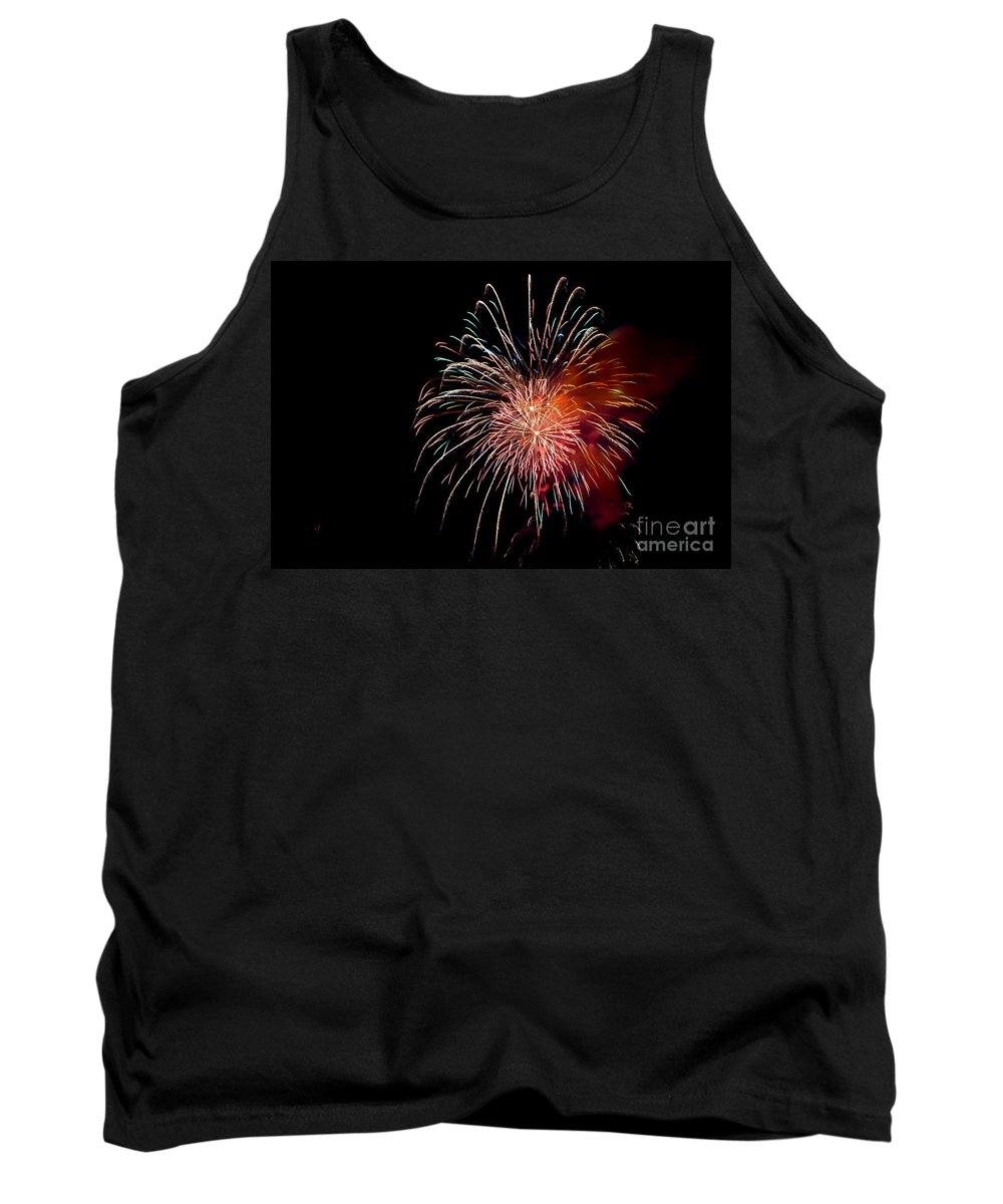 Fireworks Tank Top featuring the photograph Fireworks by Grace Grogan