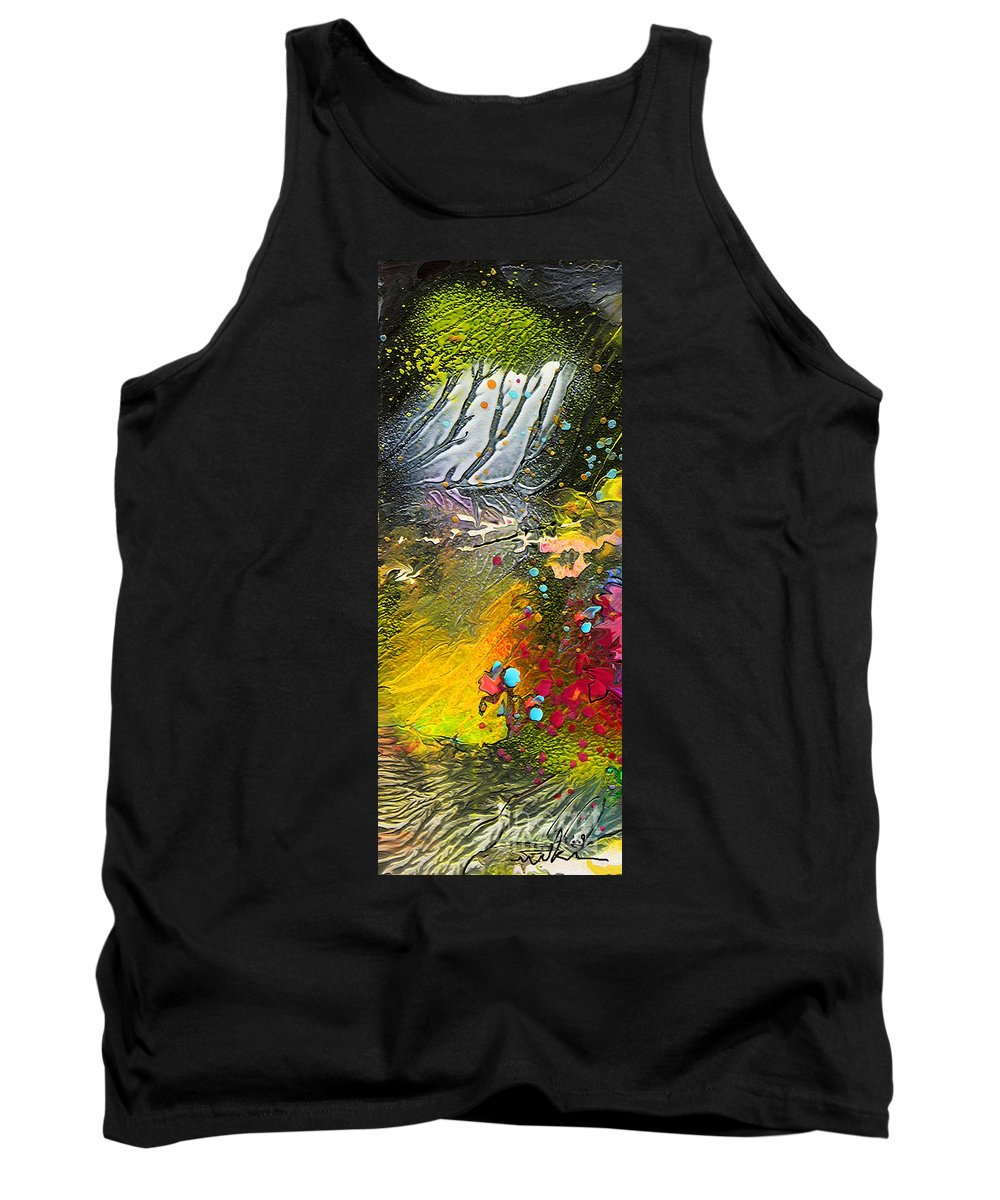 Miki Tank Top featuring the painting First Light by Miki De Goodaboom
