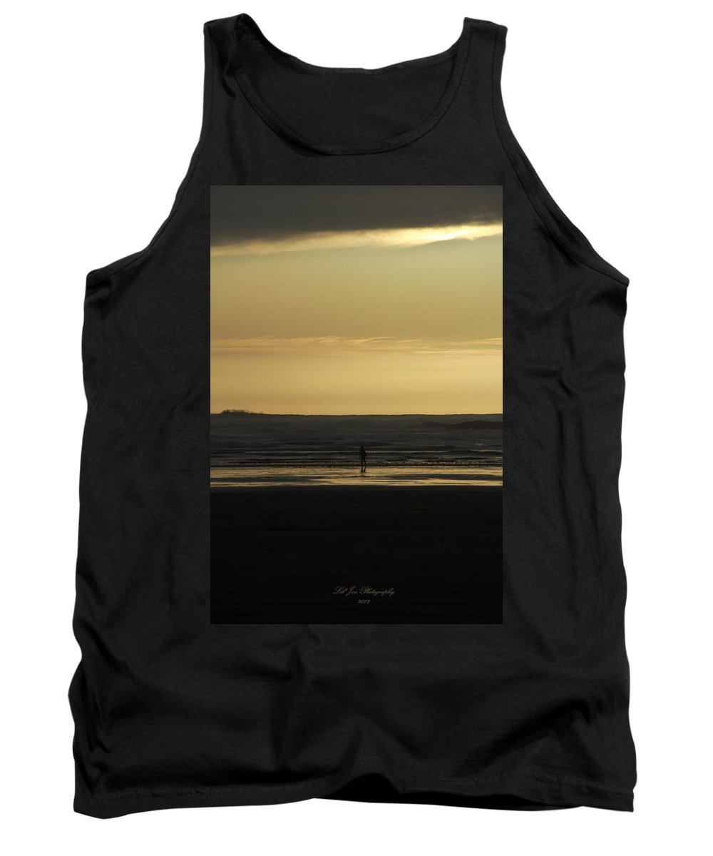 Ocean Tank Top featuring the photograph First Meeting by Jeanette C Landstrom
