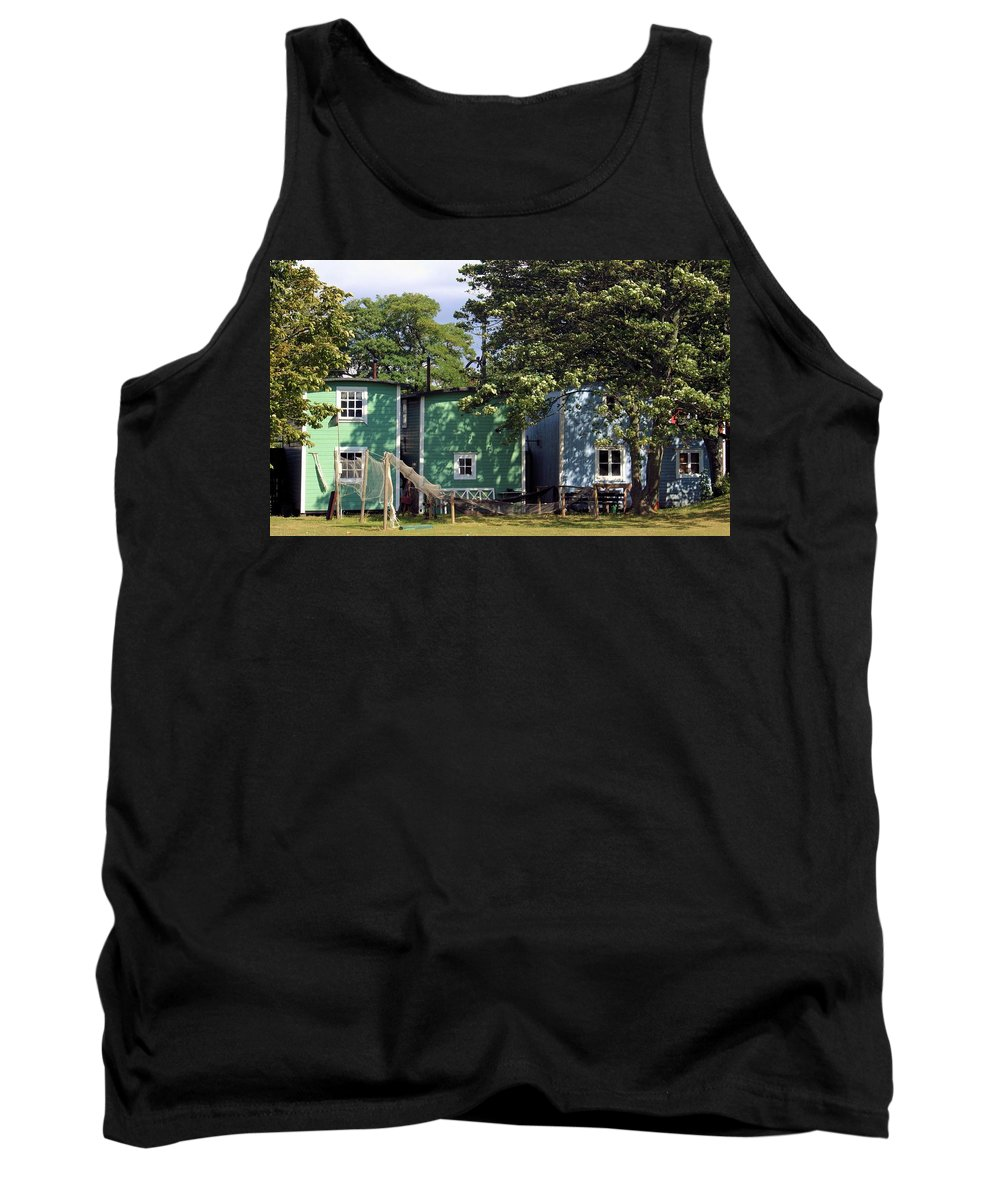 Fish Tank Top featuring the photograph Fishermen Houses by Emma Motte