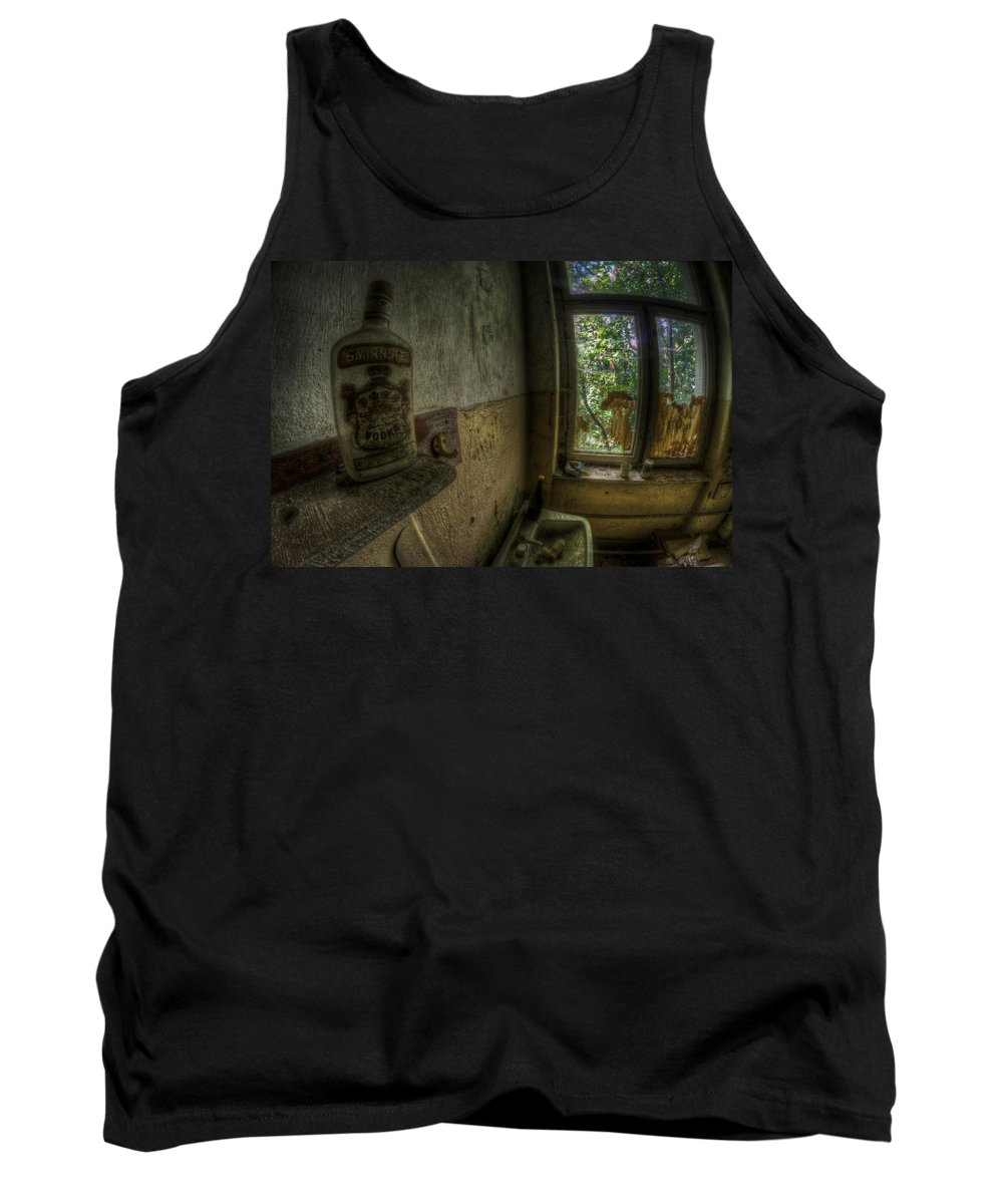 Germany Tank Top featuring the digital art Fisheye Vodka by Nathan Wright