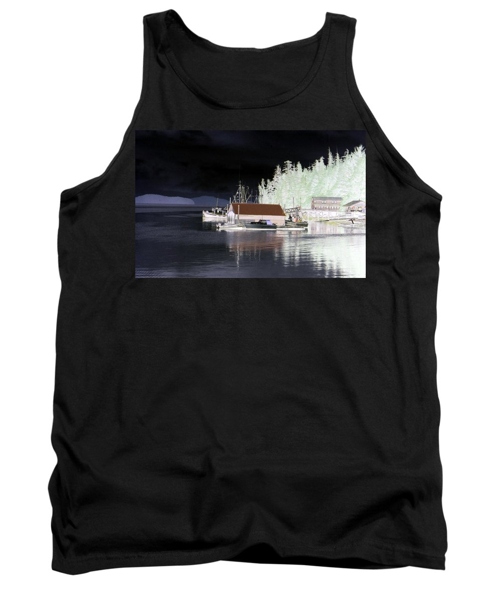 Alaska Tank Top featuring the photograph Fishing Boat Dock - Ketchican - Alaska - Photopower 01 by Pamela Critchlow