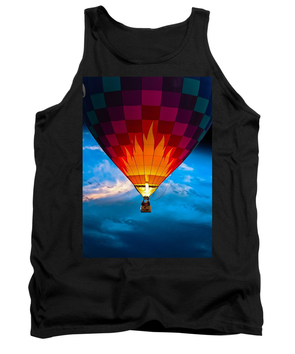 Hot Air Balloon Tank Top featuring the photograph Flame With Flame by Bob Orsillo