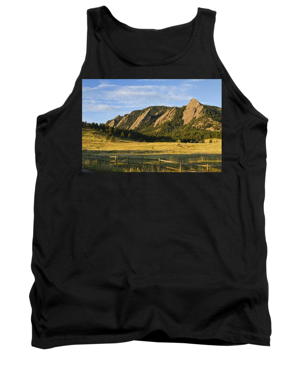 Epic Tank Top featuring the photograph Flatirons From Chautauqua Park by James BO Insogna