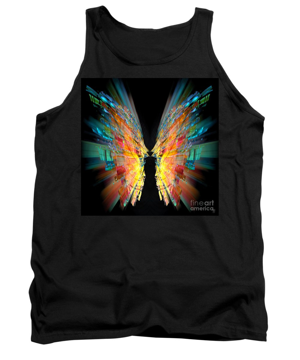 Flight Tank Top featuring the painting Flight Abstract by Neil Finnemore
