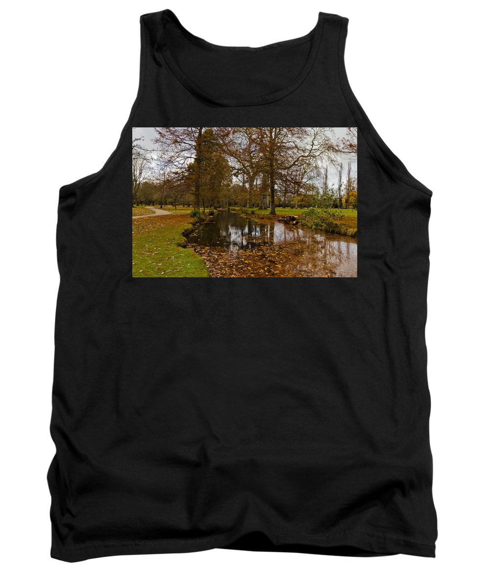 Forest Floor Tank Top featuring the photograph Floating Leaves by Maj Seda