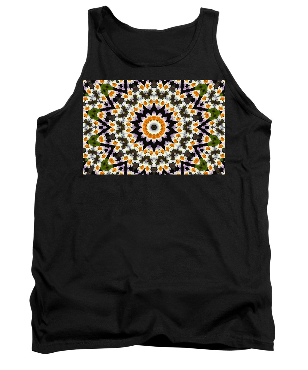 Flora Tank Top featuring the painting Flora Kaleidoscope by Lynne Jenkins