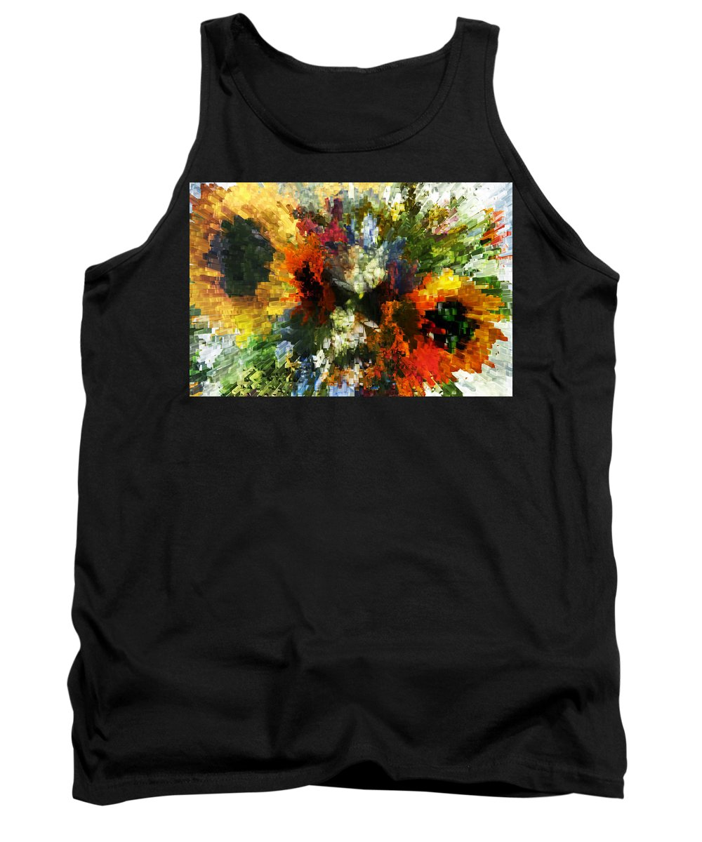Flowers Tank Top featuring the photograph Floral Art Xiv by Tina Baxter