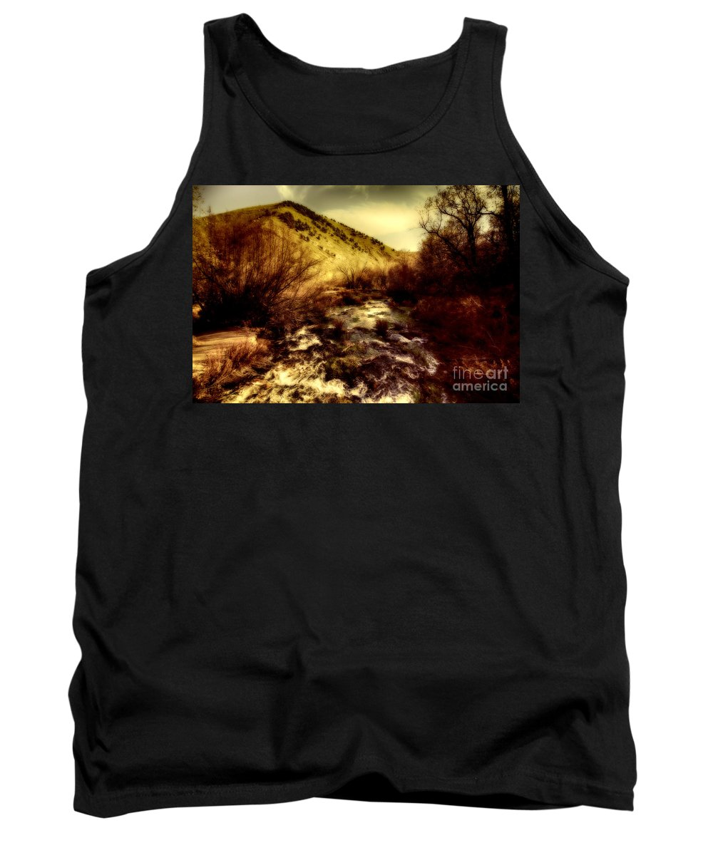 Ice Tank Top featuring the photograph Flow V14 by Douglas Barnard