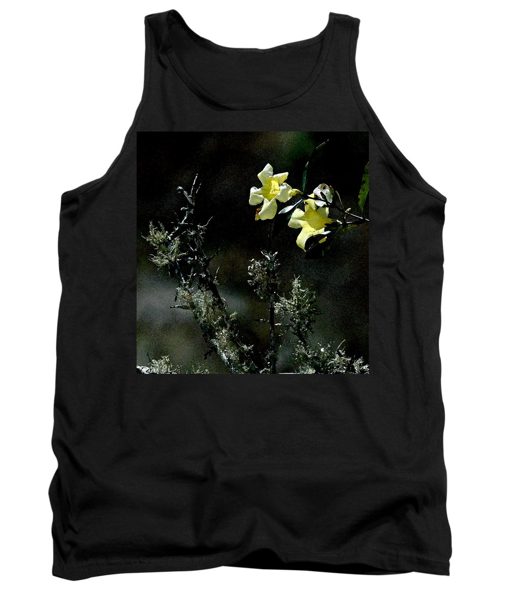 Yellow Flower Tank Top featuring the photograph Flower Among The Moss by Norman Johnson