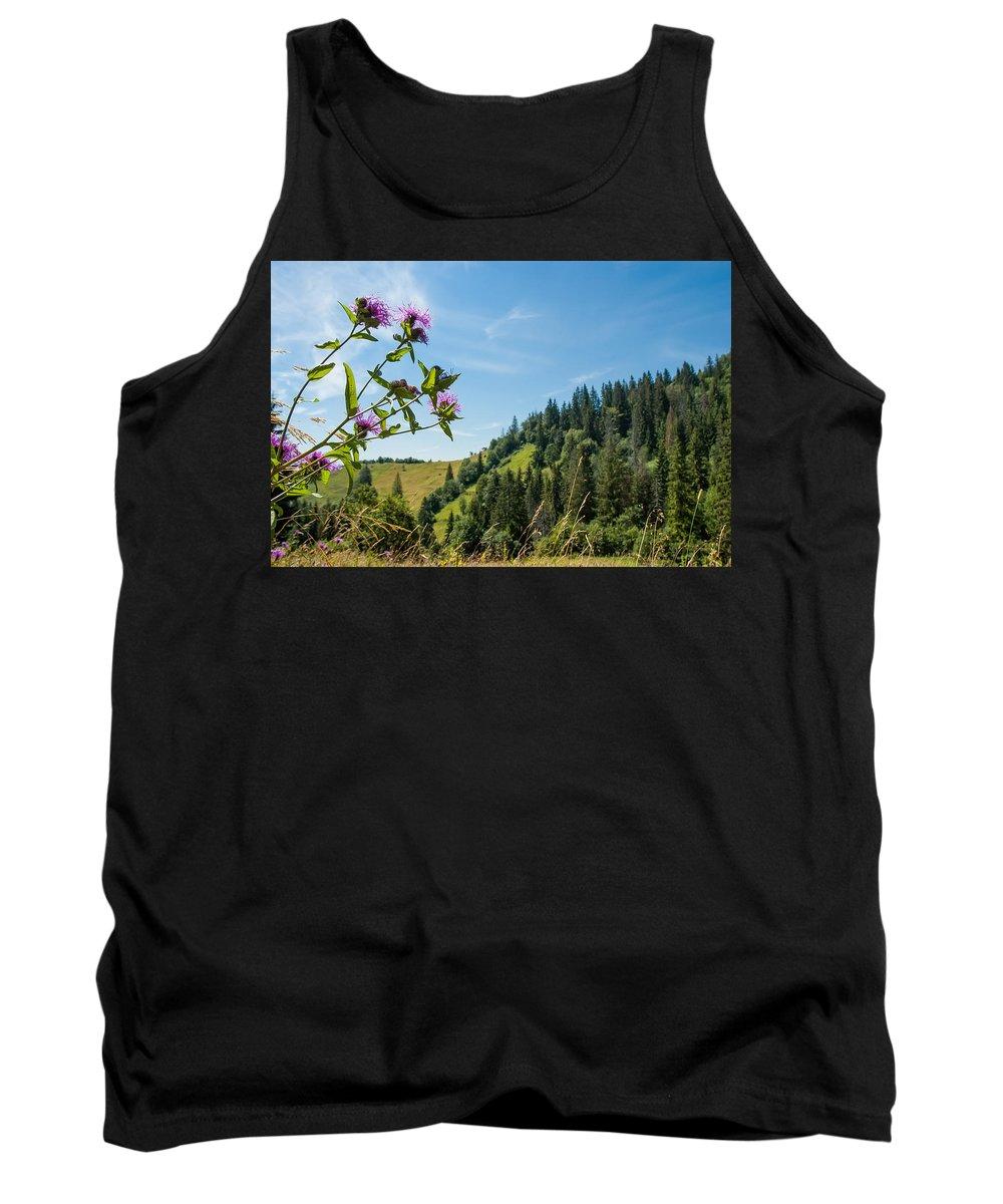 Carpathian Tank Top featuring the photograph Flower In The Carpathians by Alain De Maximy