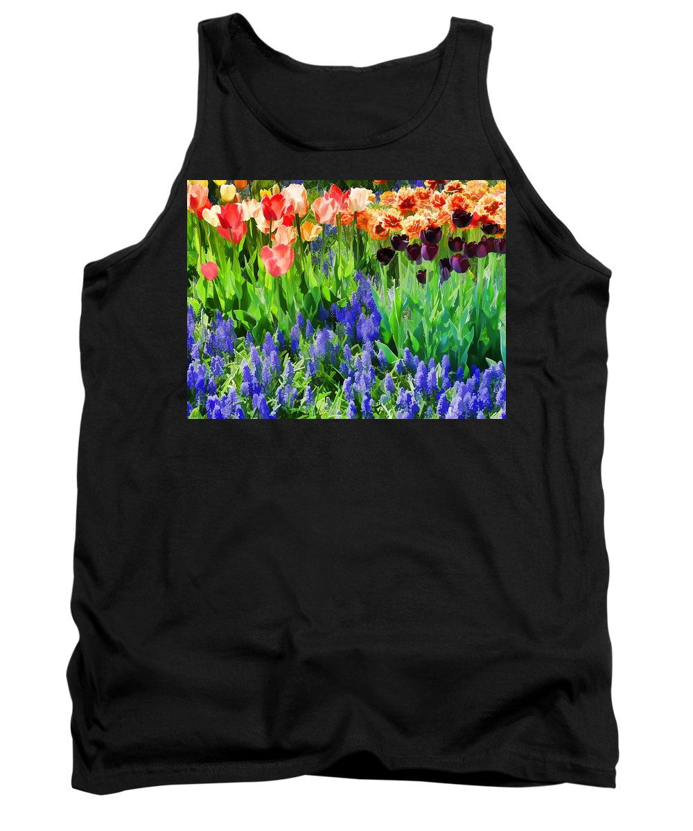 Flowers Tank Top featuring the photograph Flower Splash V by Tina Baxter