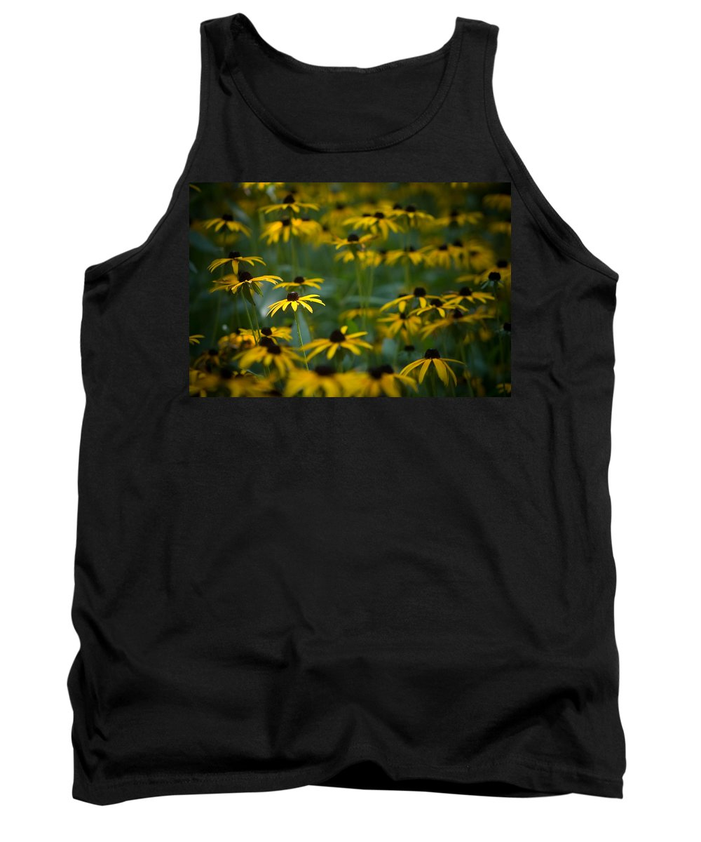 Botanicals Tank Top featuring the photograph Flowers In The Fields by Timothy Bischoff