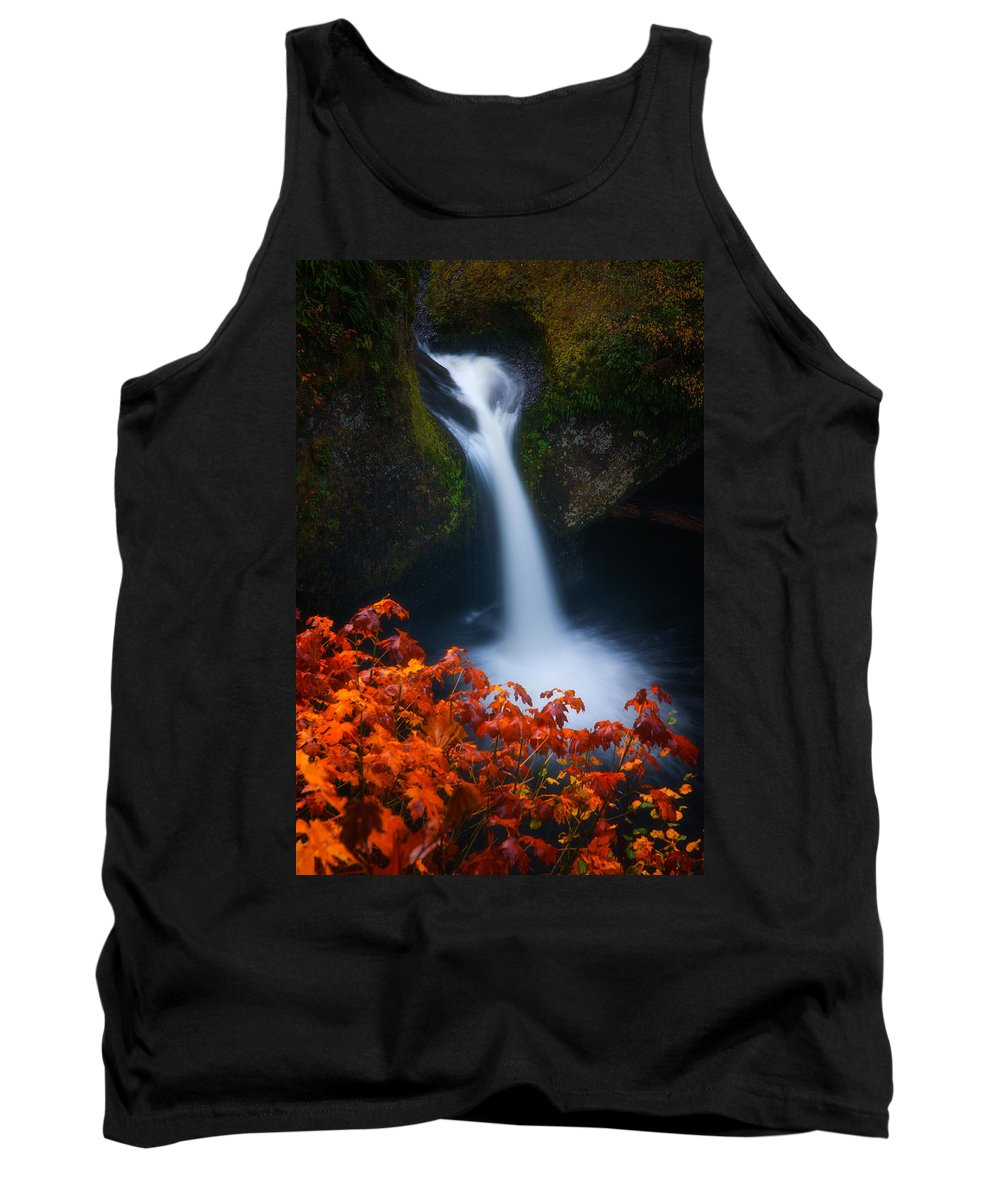 Waterfall Tank Top featuring the photograph Flowing Into Fall by Darren White