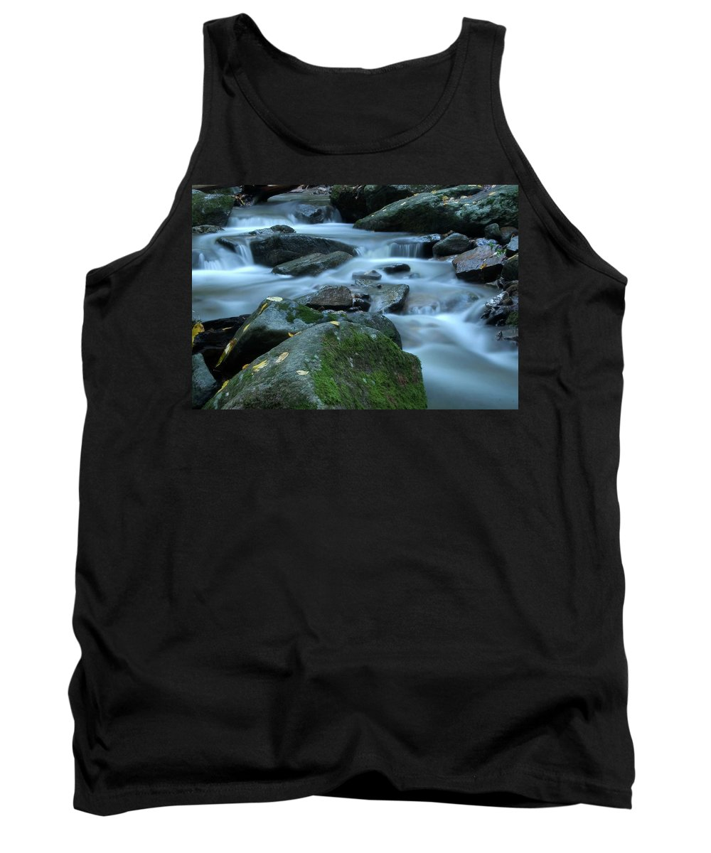 Stream Tank Top featuring the photograph Flowing Spirit by Karol Livote