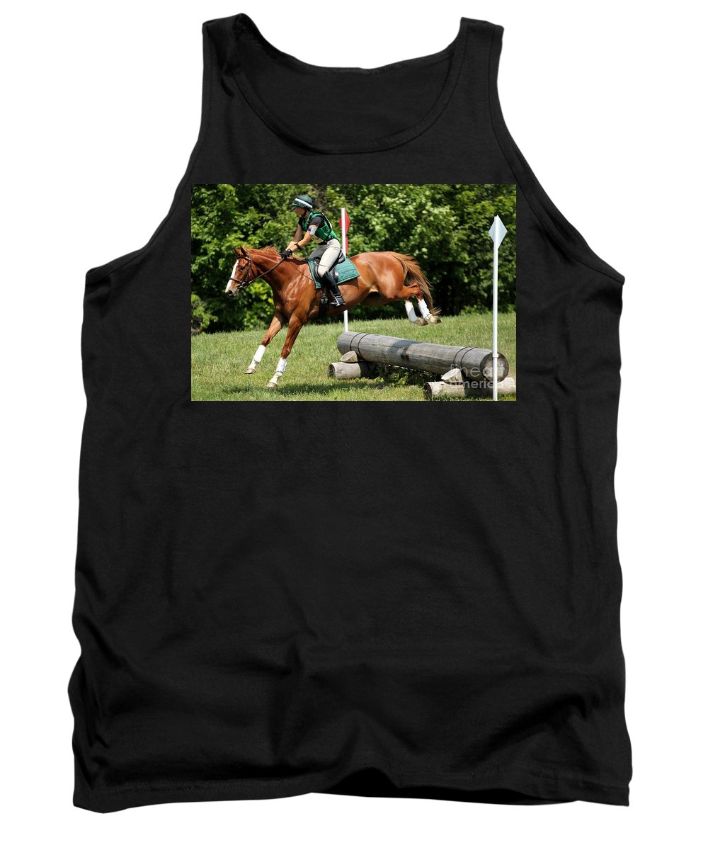 Horse Tank Top featuring the photograph Flying Chestnut by Janice Byer
