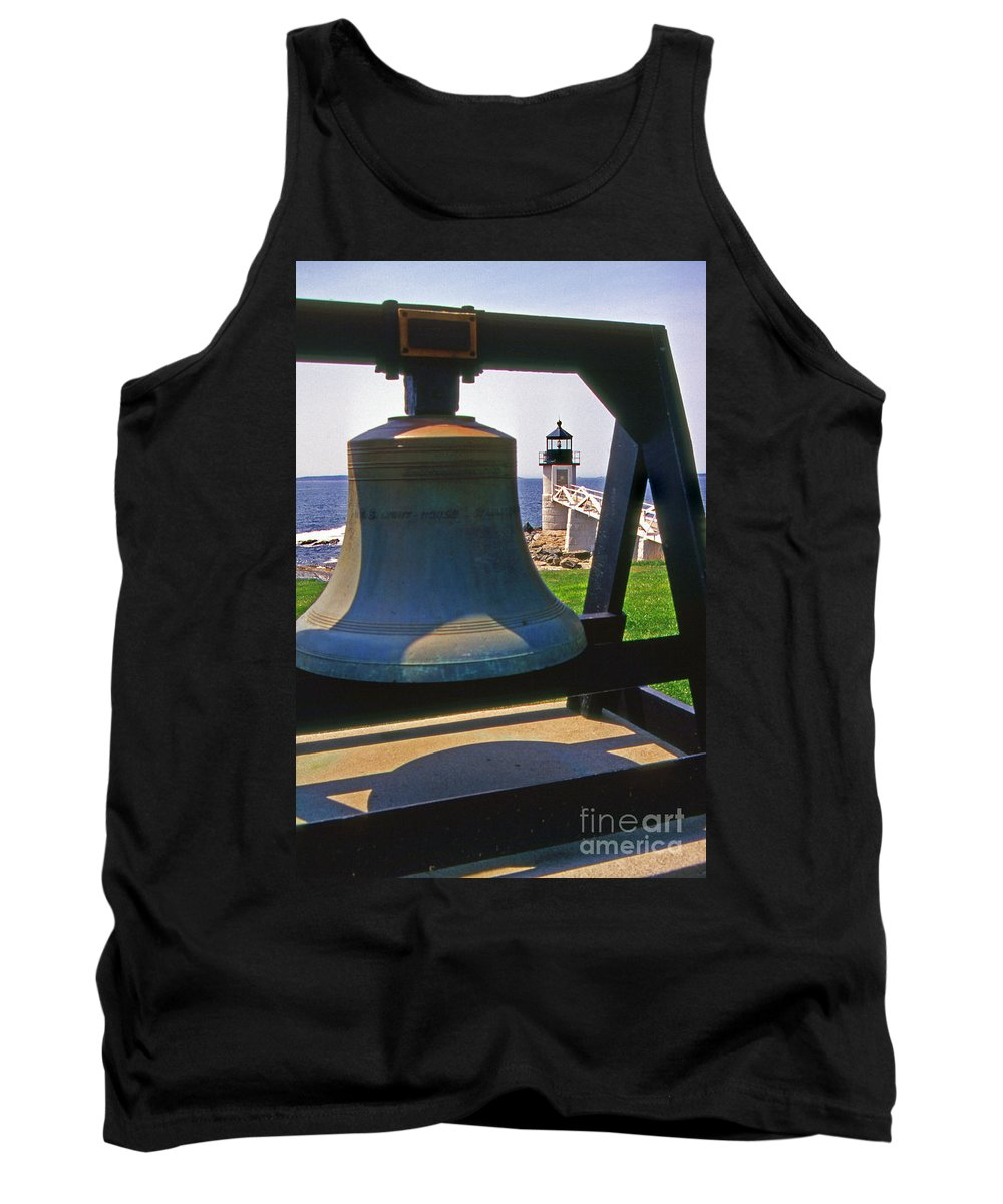 Lighthouses Tank Top featuring the photograph Fog Bell by Skip Willits