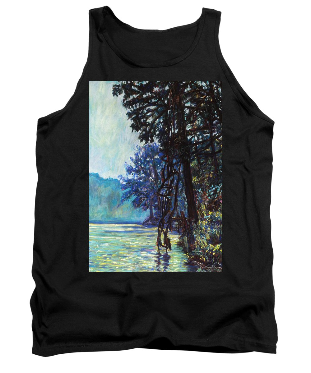 Kendall Kessler Tank Top featuring the painting Fog On The New River by Kendall Kessler
