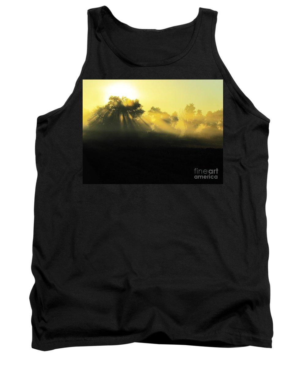 Ron Tackett Tank Top featuring the photograph Fogged Up Sun by Ron Tackett
