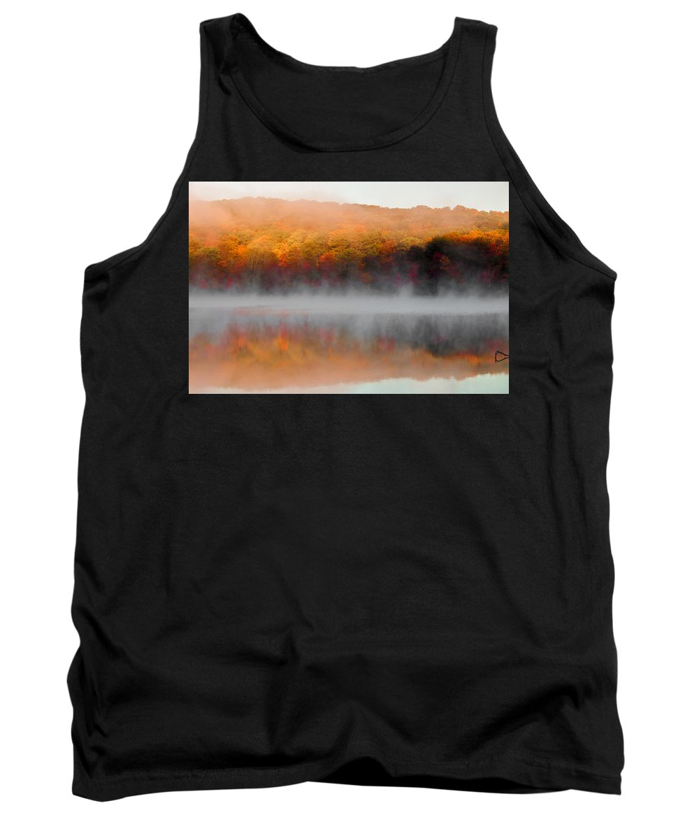 Harriman State Park Tank Top featuring the photograph Foilage In The Fog by Anthony Sacco